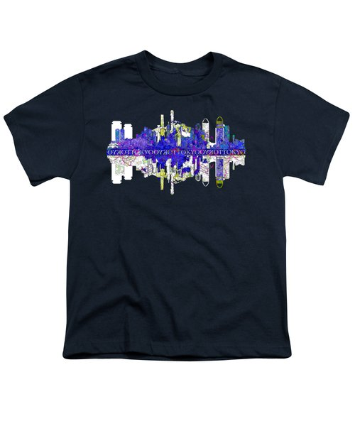 Tokyo Skyline Youth T-Shirt by John Groves