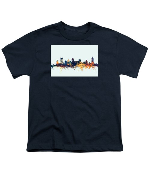Nashville Tennessee Skyline Youth T-Shirt by Michael Tompsett