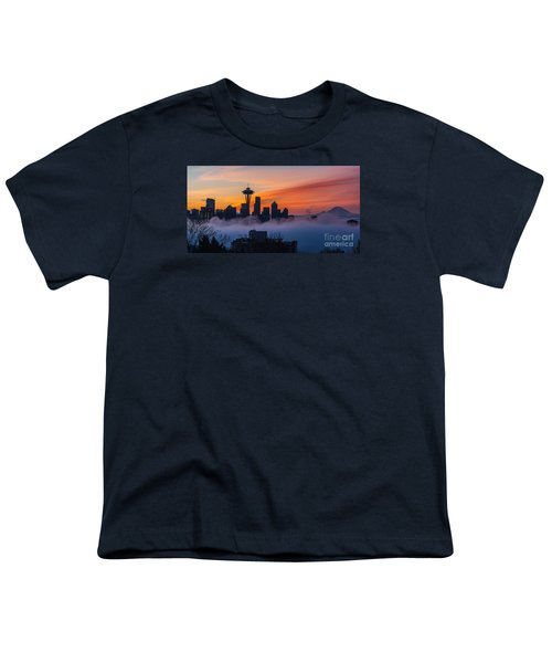 A City Emerges Youth T-Shirt by Mike Reid