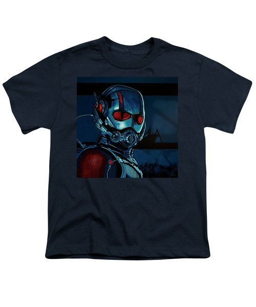 Ant Man Painting Youth T-Shirt by Paul Meijering