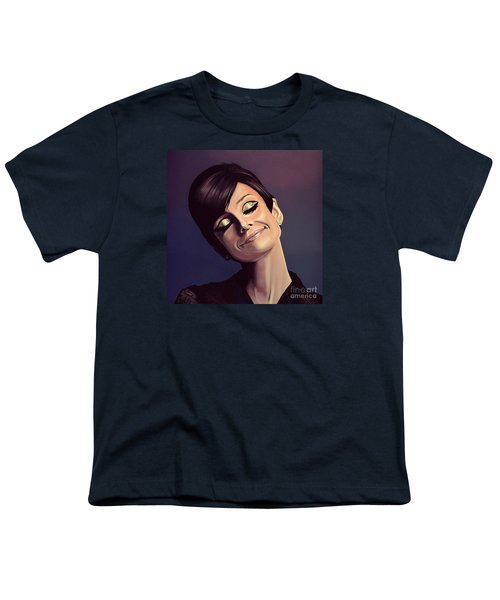 Audrey Hepburn Painting Youth T-Shirt by Paul Meijering