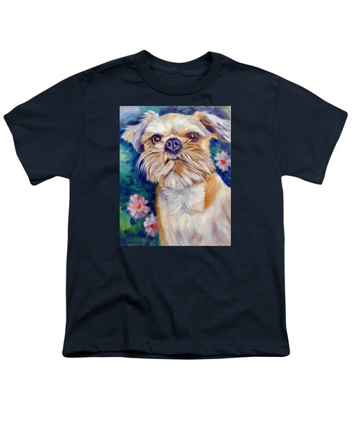 Brussels Griffon Youth T-Shirt by Lyn Cook