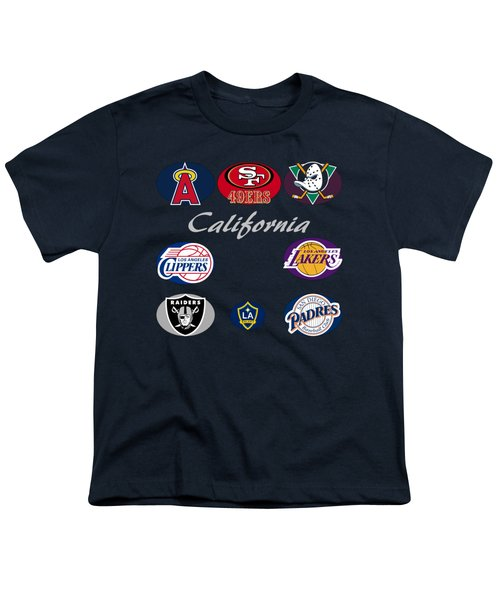 California Professional Sport Teams Collage  Youth T-Shirt by Movie Poster Prints