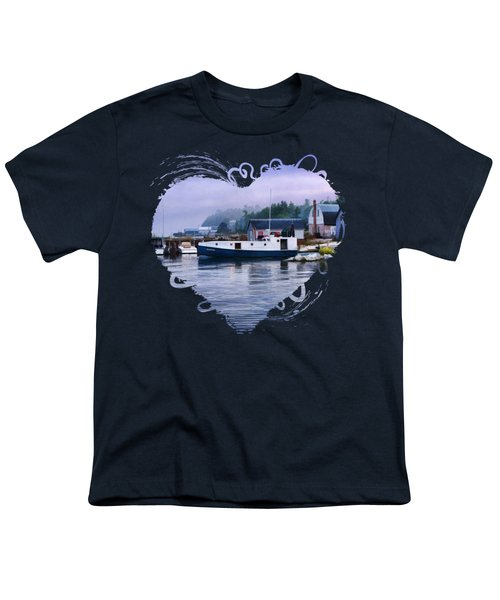 Door County Gills Rock Fishing Village Youth T-Shirt by Christopher Arndt