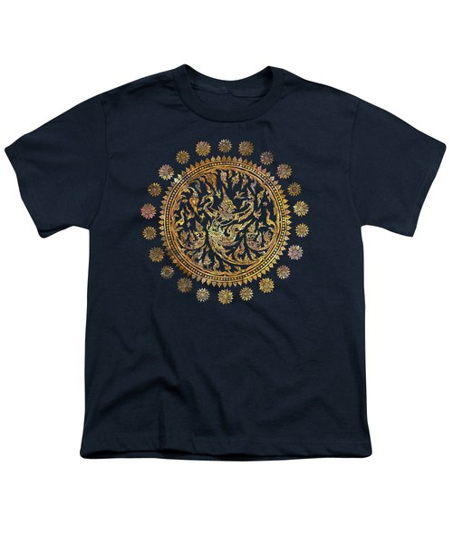 Garuda's Golden Victory - Color Edition Youth T-Shirt by David Ardil