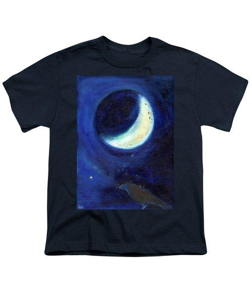 July Moon Youth T-Shirt by Nancy Moniz