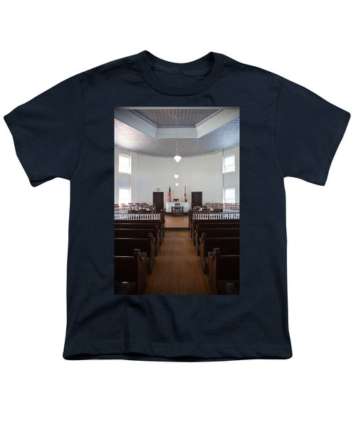 Jury Box In A Courthouse, Old Youth T-Shirt by Panoramic Images