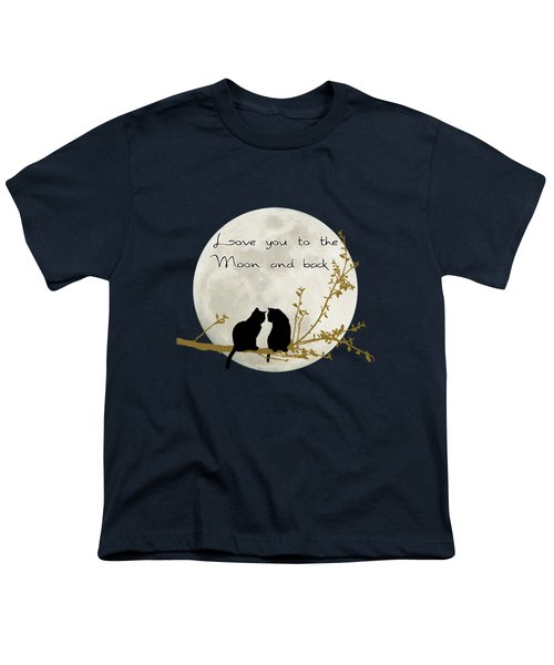 Love You To The Moon And Back Youth T-Shirt by Linda Lees