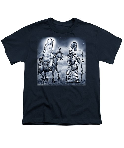 Mary And Joseph  Youth T-Shirt by Kevin Middleton