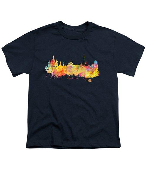 Moscow Skyline  Youth T-Shirt by Justyna JBJart