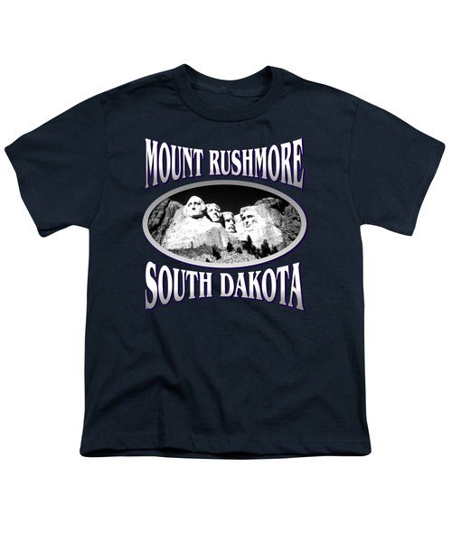 Mount Rushmore South Dakota - Tshirt Design Youth T-Shirt by Art America Online Gallery