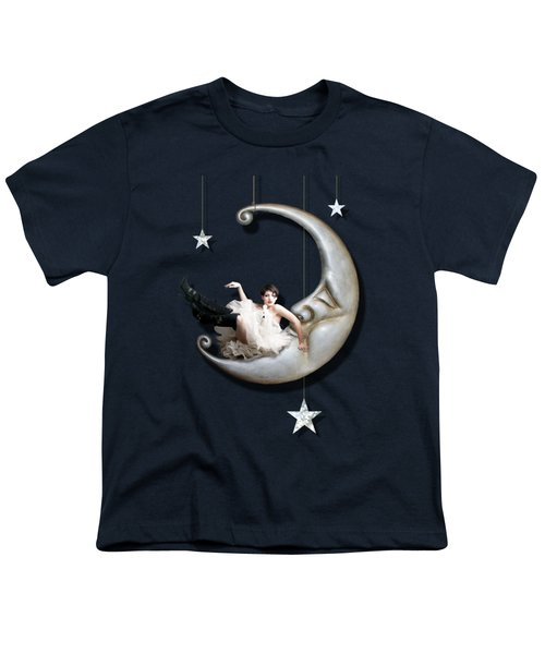 Paper Moon Youth T-Shirt by Linda Lees