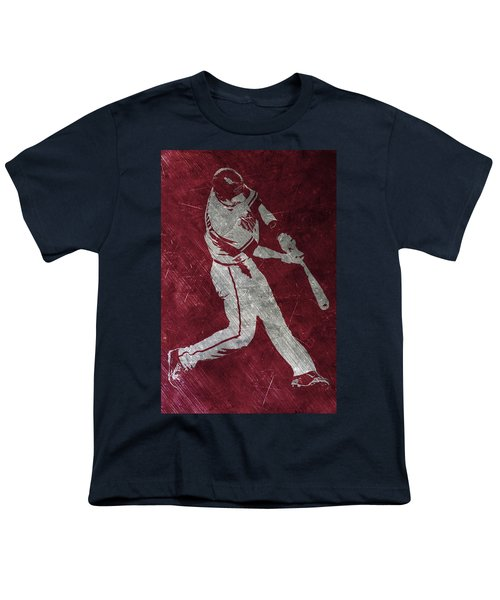Paul Goldschmidt Arizona Diamondbacks Art Youth T-Shirt by Joe Hamilton