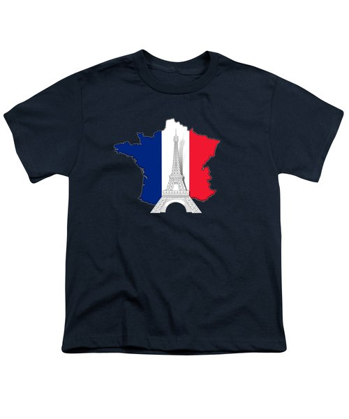 Pray For Paris Youth T-Shirt by Bedros Awak