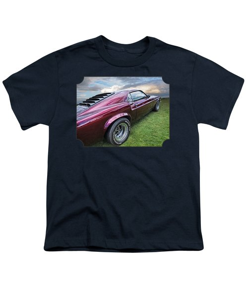 Rich Cherry - '69 Mustang Youth T-Shirt by Gill Billington