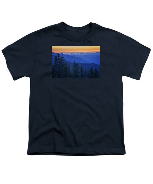 Sierra Fire Youth T-Shirt by Rick Berk