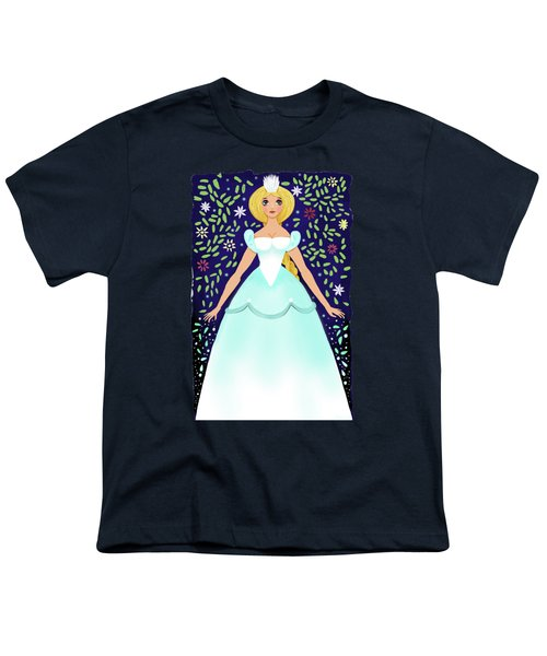 The Winter Fairy Brings The First Frost  Youth T-Shirt by Little Bunny Sunshine