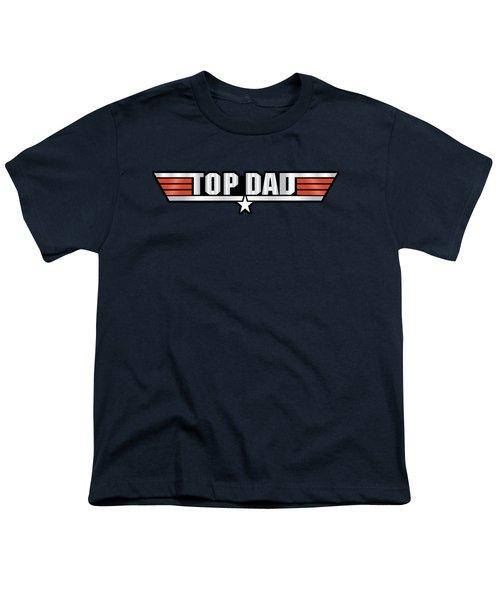 Top Dad Callsign Youth T-Shirt by Fernando Miranda