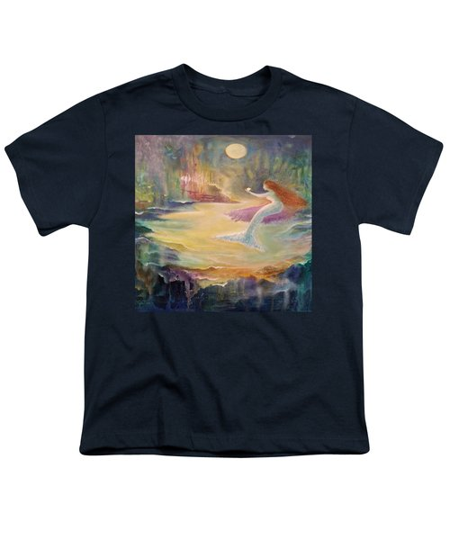 Vintage Mermaid Youth T-Shirt by Lily Nava