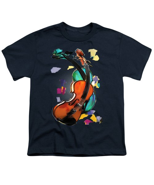 Violins Youth T-Shirt by Melanie D