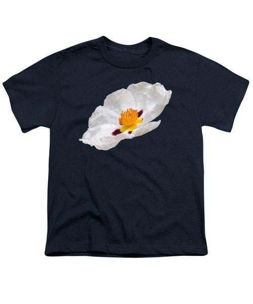 White Cistus Youth T-Shirt by Gill Billington