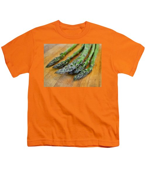 Asparagus Youth T-Shirt by Michelle Calkins