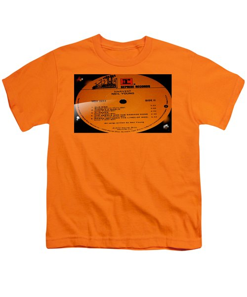 Harvest Neil Young Side 2 Youth T-Shirt by Marcello Cicchini