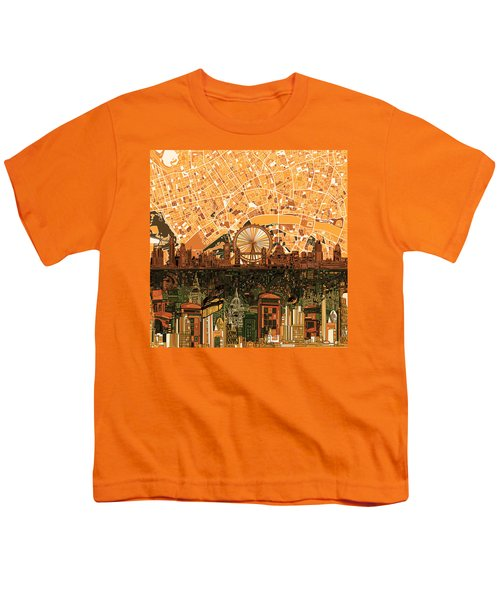 London Skyline Abstract 7 Youth T-Shirt by Bekim Art