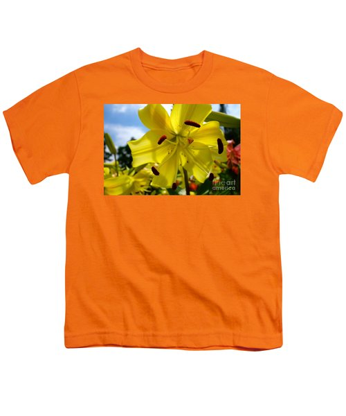 Yellow Whopper Lily 2 Youth T-Shirt by Jacqueline Athmann