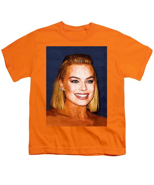 Margot Robbie Art Youth T-Shirt by Best Actors