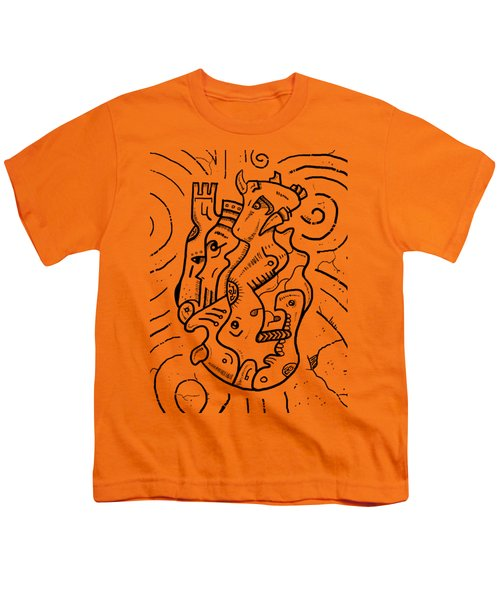 Psychedelic Animals Youth T-Shirt by Erki Schotter