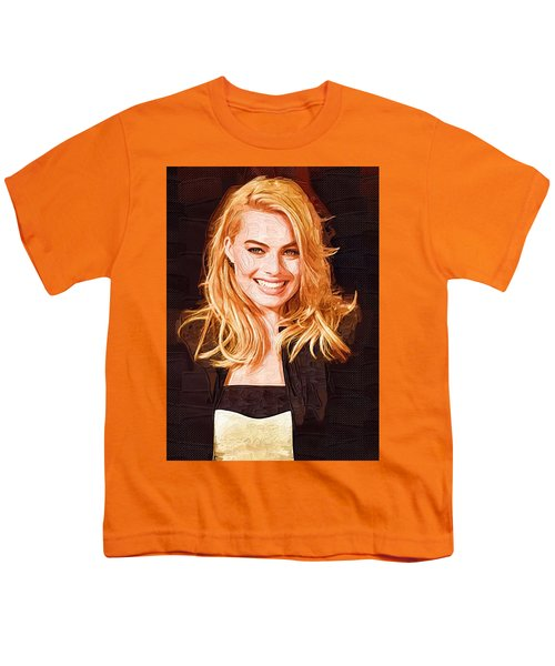 Margot Robbie Painting Youth T-Shirt by Best Actors