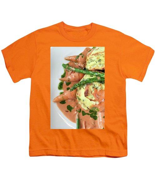 Asparagus Dish Youth T-Shirt by Tom Gowanlock