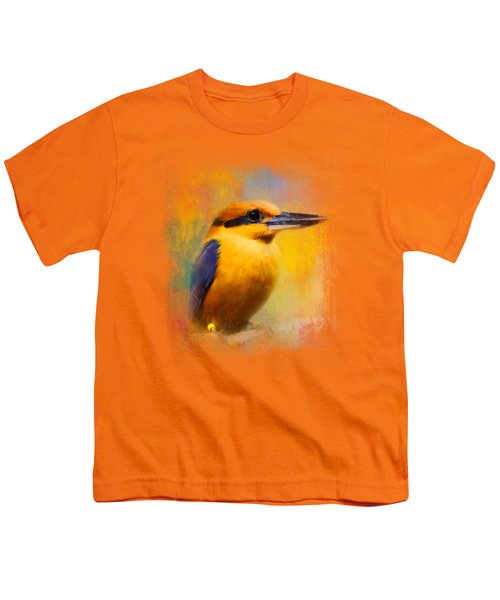 Colorful Expressions Kingfisher Youth T-Shirt by Jai Johnson