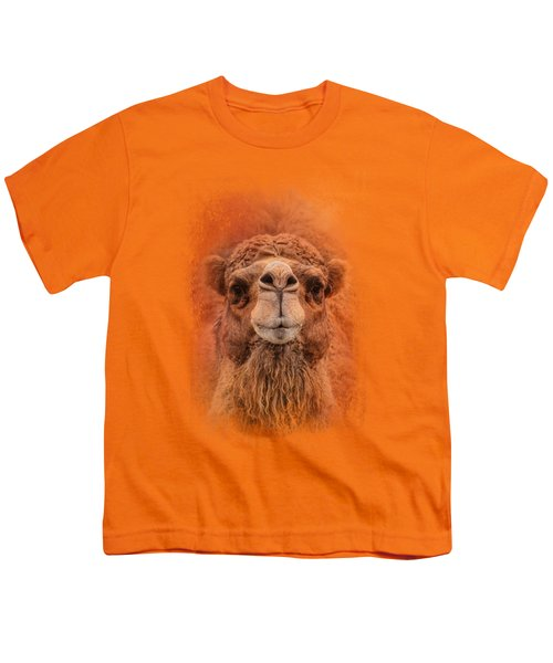 Dromedary Camel Youth T-Shirt by Jai Johnson