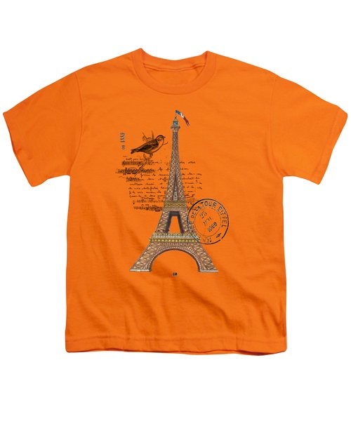 Eiffel Tower T Shirt Design Youth T-Shirt by Bellesouth Studio