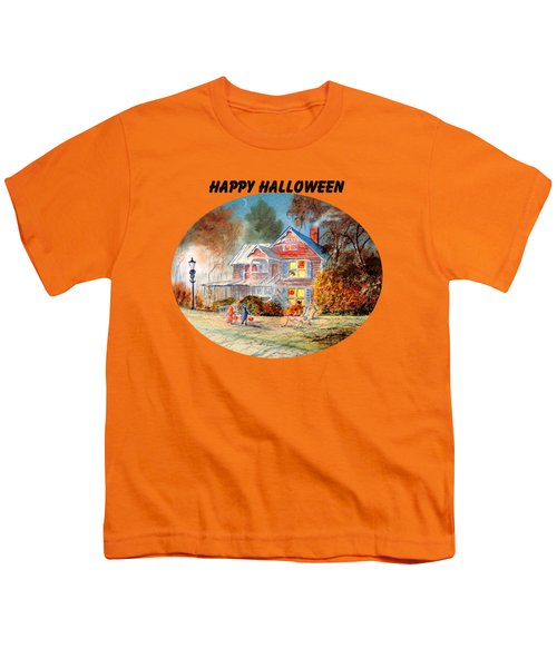 Happy Halloween Youth T-Shirt by Bill Holkham