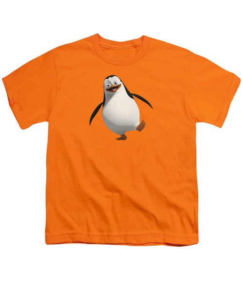 Happy Penguin Youth T-Shirt by T Shirts R Us -