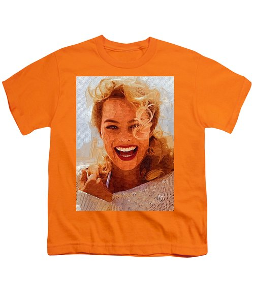 Hollywood Star Margot Robbie Youth T-Shirt by Best Actors