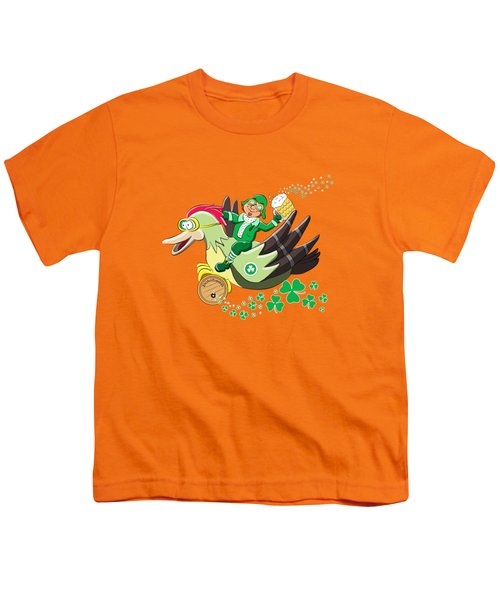 Lucky Leprechaun Youth T-Shirt by David Brodie