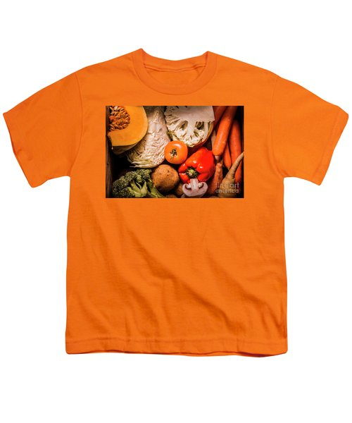 Mixed Vegetable Produce Pack Youth T-Shirt by Jorgo Photography - Wall Art Gallery
