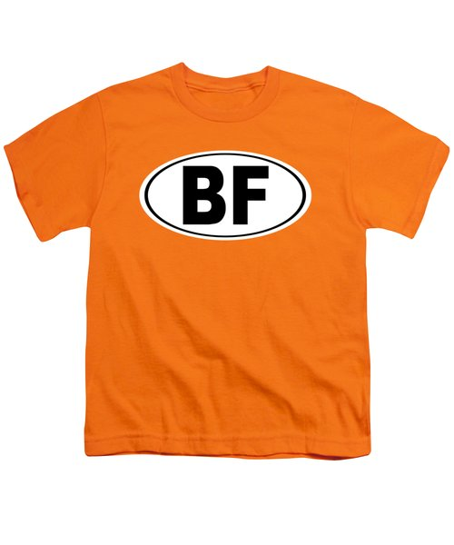 Oval Bf Beaver Falls Pennsylvania Home Pride Youth T-Shirt by Keith Webber Jr