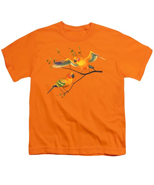 Parrots Conure Youth T-Shirt by Diane Leenknegt