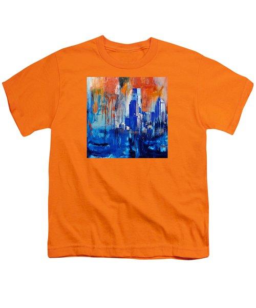 Philadelphia Skyline 227 1 Youth T-Shirt by Mawra Tahreem