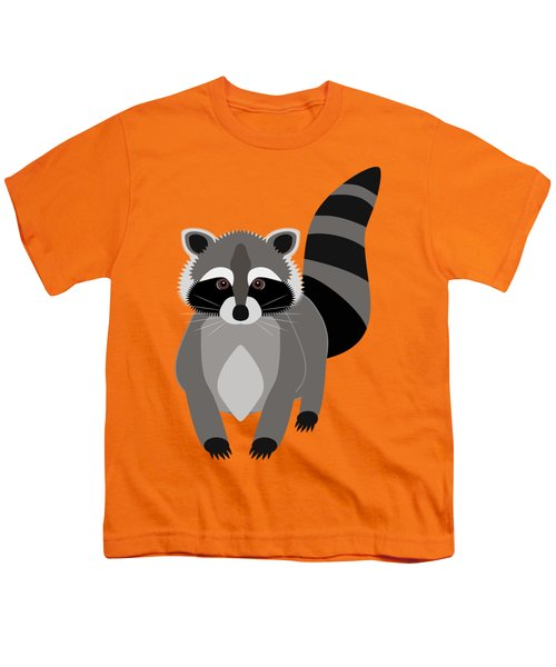 Raccoon Mischief Youth T-Shirt by Antique Images