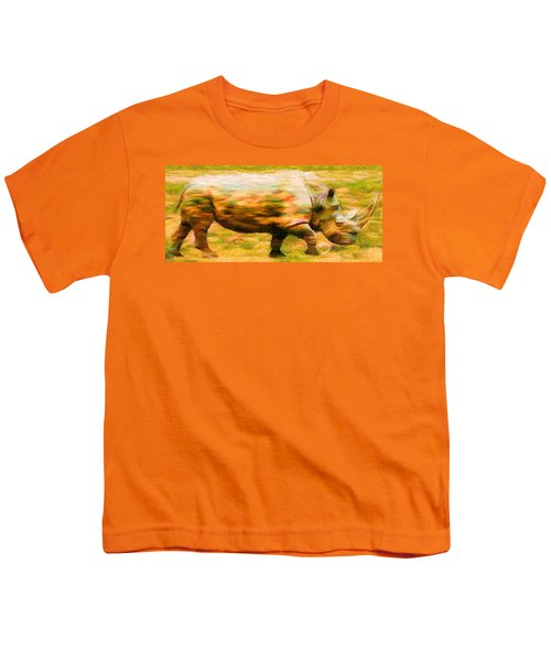 Rhinocerace Youth T-Shirt by Caito Junqueira