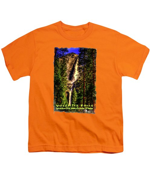 Yosemite Falls Framed By Ponderosa Pines Youth T-Shirt by Roger Passman