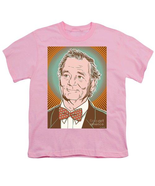 Bill Murray Pop Art Youth T-Shirt by Jim Zahniser