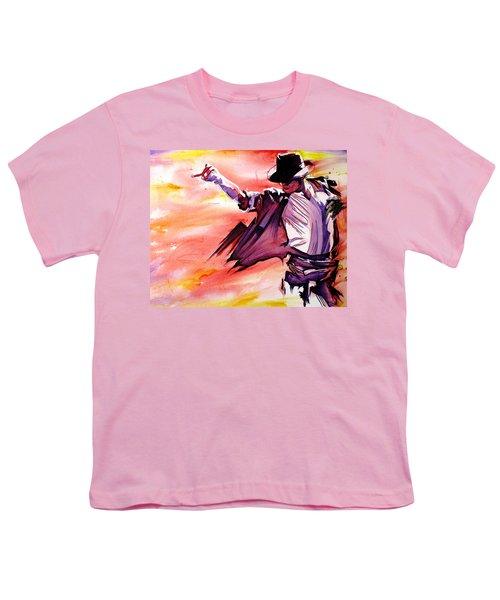 Michael Jackson-billie Jean Youth T-Shirt by Joshua Morton