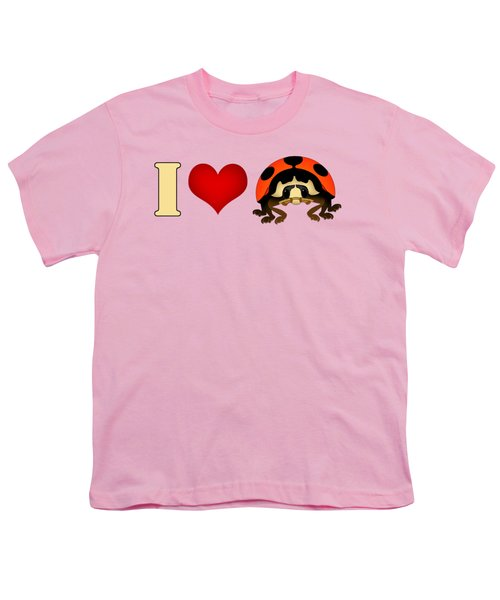 I Love Ladybugs Youth T-Shirt by Sarah Greenwell